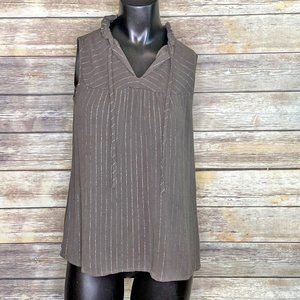 G by Giuliana Olive Green Tunic w/Silver Pinstripe